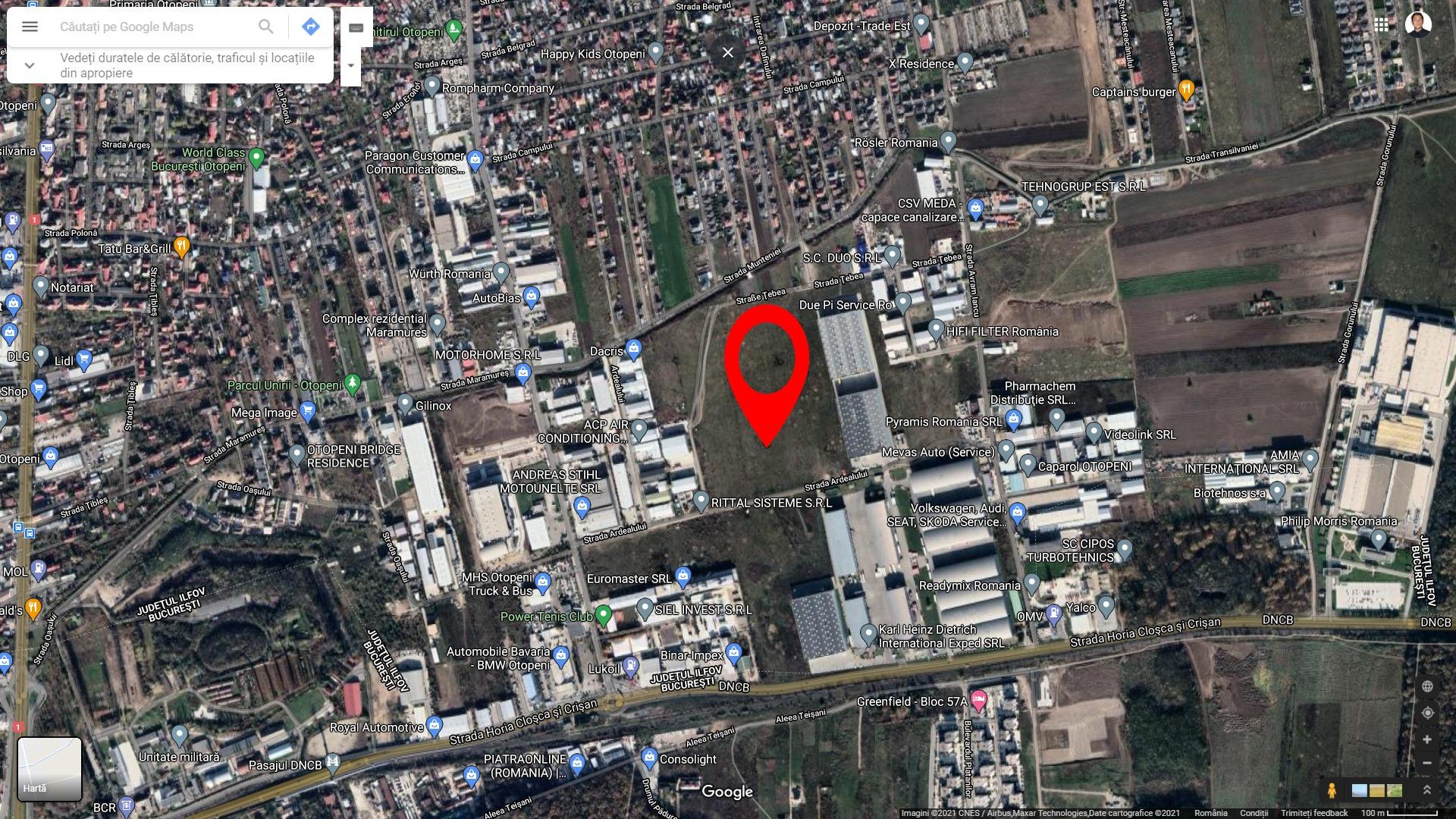 Teren 5840 mp zona industriala Otopeni