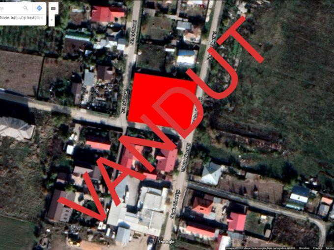 Teren 1439 mp Balacanca deschidere 3 strazi asfaltate